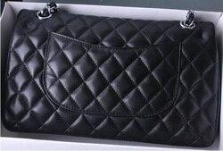 Luxus Marke Lammfell Leder Tasche Frauen Top Qualität Design Doppel Flap Bag 2,55 Klassische Caviar Kreuz Körper Schulter Ketten Taschen
