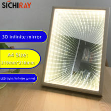 Light-Decoration Infinite Mirror Extension Effects Tunnel Gifts Led-Flashing Handmade
