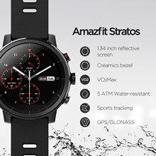 W magazynie Amazfit Stratos Smartwatch 5ATM wodoodporna inteligentny zegarek Bluetooth GPS licznik kroków Monitor pracy serca dla Android iOS