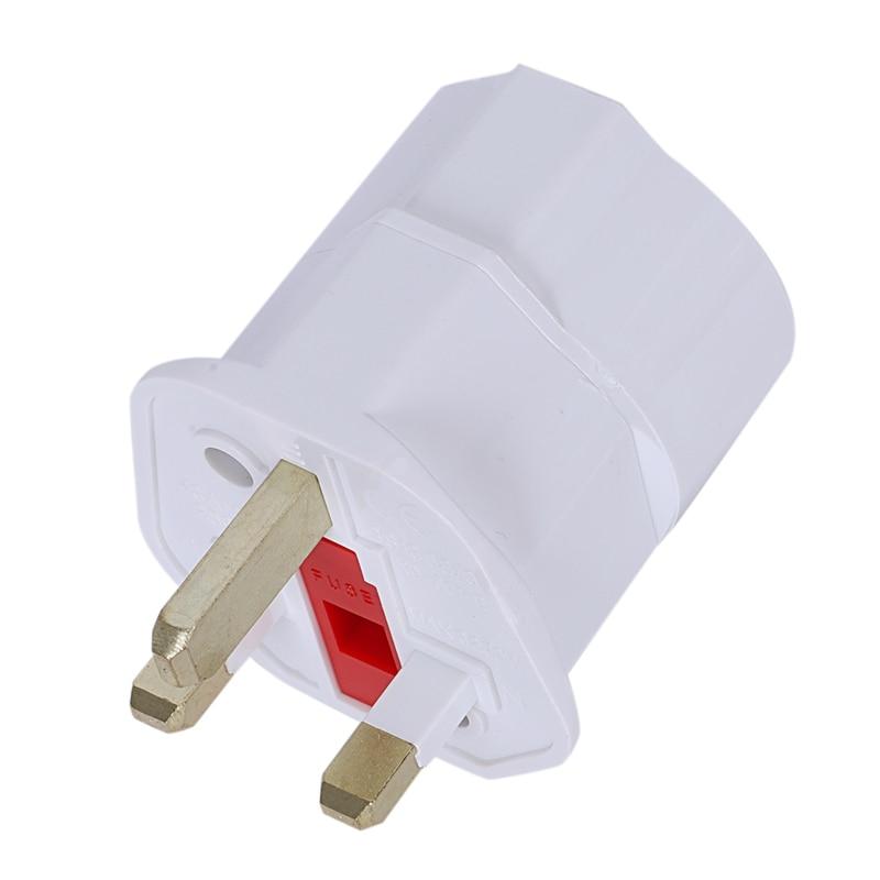 Travel Plug Socket Adapter Travel Adapter Power Germany EU On UK England (White)