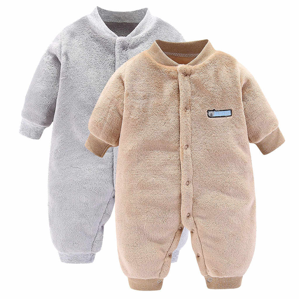 Christmas Spring Autumn Baby Clothing Newborn Soft Fleece Rompers 0-24m Infant Jumpsuit Baby Cartoon Costumes Pajamas