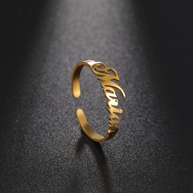 Sipuris Персонализированные Пользовательское имя кольцо из нержавеющей стали под заказ кольцо для мужчин и женщин, уникальный можно украсить ...