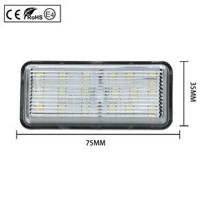 Image 2 - 2pcs LED License Number Plate Light Lamp Clear Light For Toyota Land Cruiser 100 Prado J120 200 Reiz 4D Mark X Lexus LX470 GX470