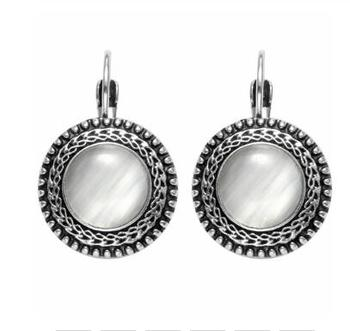 Round Vintage Drop Earrings Earrings Jewelry Women Jewelry Metal Color: H21554