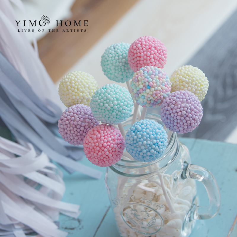 Wedding Dessert Table Layout Fake Candy Decoration Simulation Wave Board Lollipop Marshmallow Children Photography Props