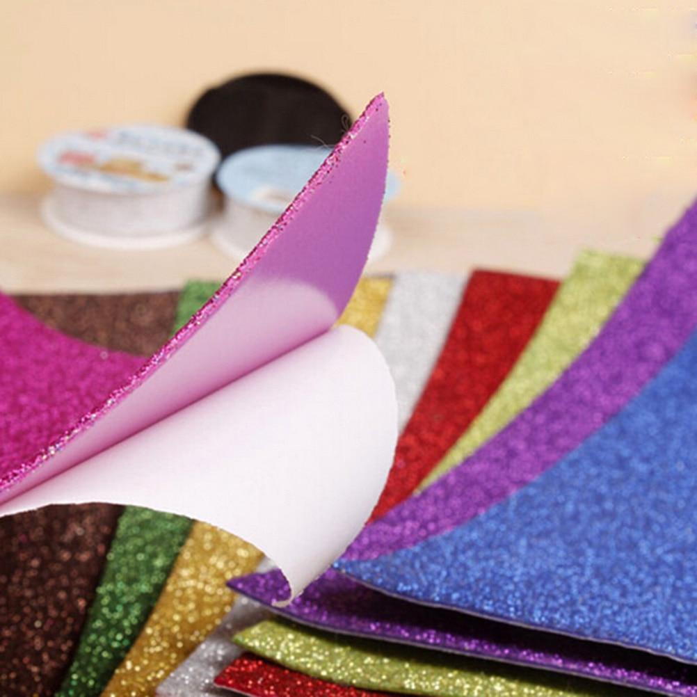 10pcs Flash Thick Sponge Paper With Rubber Powder EVA Foam Paper DIY Paper Craft Scrapbooking Paper Origami Colored Decor 6