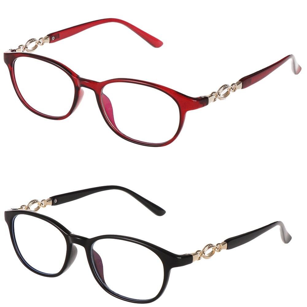 Reading Glasses Men Women Anti Blue Light Presbyopic Eyeglasses Metal Frame Glasses Hyperopia Diopter +1 +1.5 +2 +2.5 +3 +3.5 +4