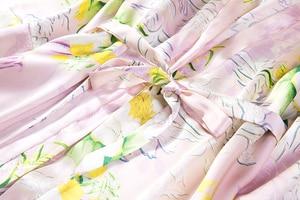 Image 4 - % 100% saf ipek kadın uyku elbise pijama gecelik kemer bir boyut JN040