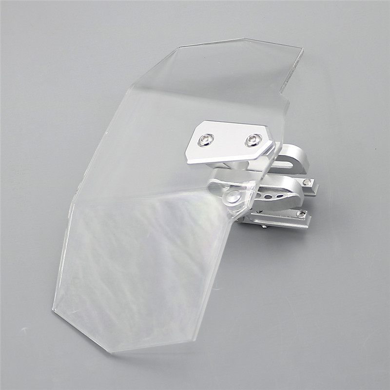Airflow Adjustable Windscreen Wind shield Windshield  with clamp braces hold for gs1250 transalp 650 bandit 650 r1200gsa fz6