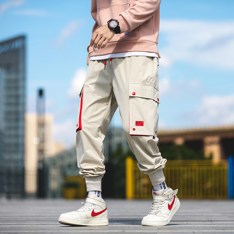 2019 Autumn New Cargo Harem Jogger Pants Men Hip Hop Pockets Fashion Casual Track Trousers Streetwear Sweatpants