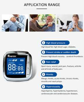 Pain Relief Diabetes Hypertension Red Laser Therapy Medical Device Equipment Laser Wrist Watch Clinic Proved