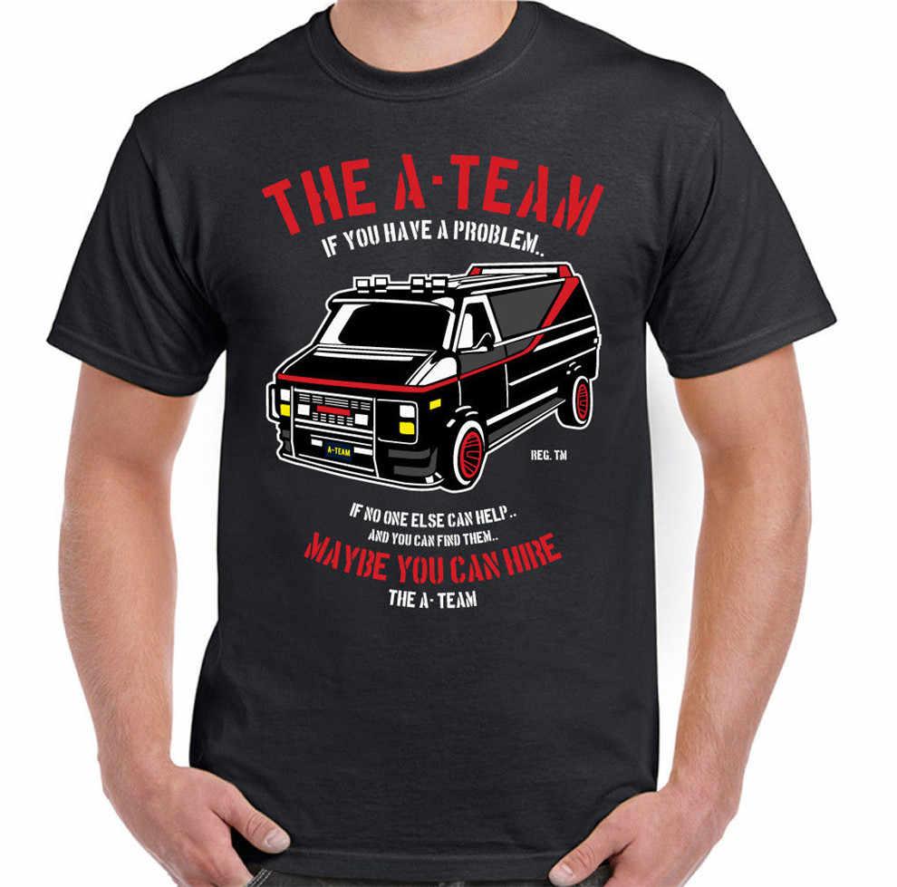 L' A-Team Van Mens Divertente Programma Tv T-Shirt Spettacolo Mr-T Per I Giovani DEGLI ANNI '80 di Mezza età l'anziano Tee Shirt