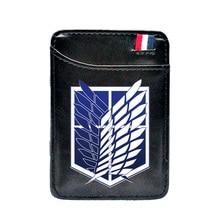 New Fashion  Attack on Titan Printing Pu Leather Card Holder Magic Wallet Fashion Masonic Men Women Short Purse