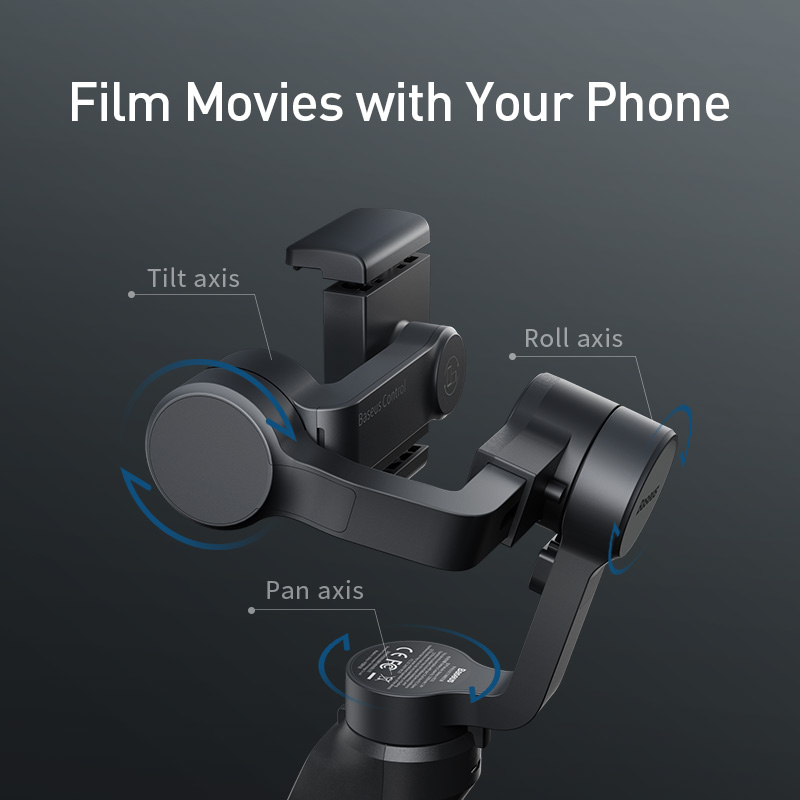 Stabilizator de gimbal portabil Bluetooth cu 3 axe wireless Baseus - Camera și fotografia - Fotografie 6