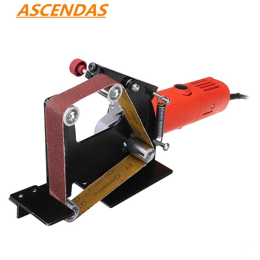 Angle Grinder Belt Sander Attachment Metal Wood Sanding Belt Adapter Use 100 Angle Grinder TP-0168