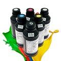500 мл X 6 шт Новые улучшенные универсальные светодиодные УФ чернила для Epson UV планшетный принтер (BK C M Y белый * 2) с высоким качеством