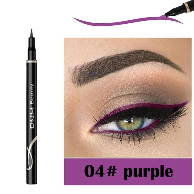 DNM 1pcs Neon Colorful Liquid Eyeliner Waterproof Matte Smooth Eyeliner Pen Blue Black Brown Eyeliner Cat Eye Makeup Tools TSLM2 2
