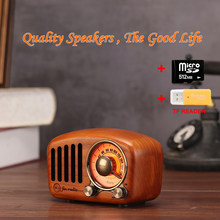 R919 FM Speakers Radio Wood Music Box Portable Crafts Subwoofer Solid For Home Outdoor Mini Wooden Indoor Old Time Player