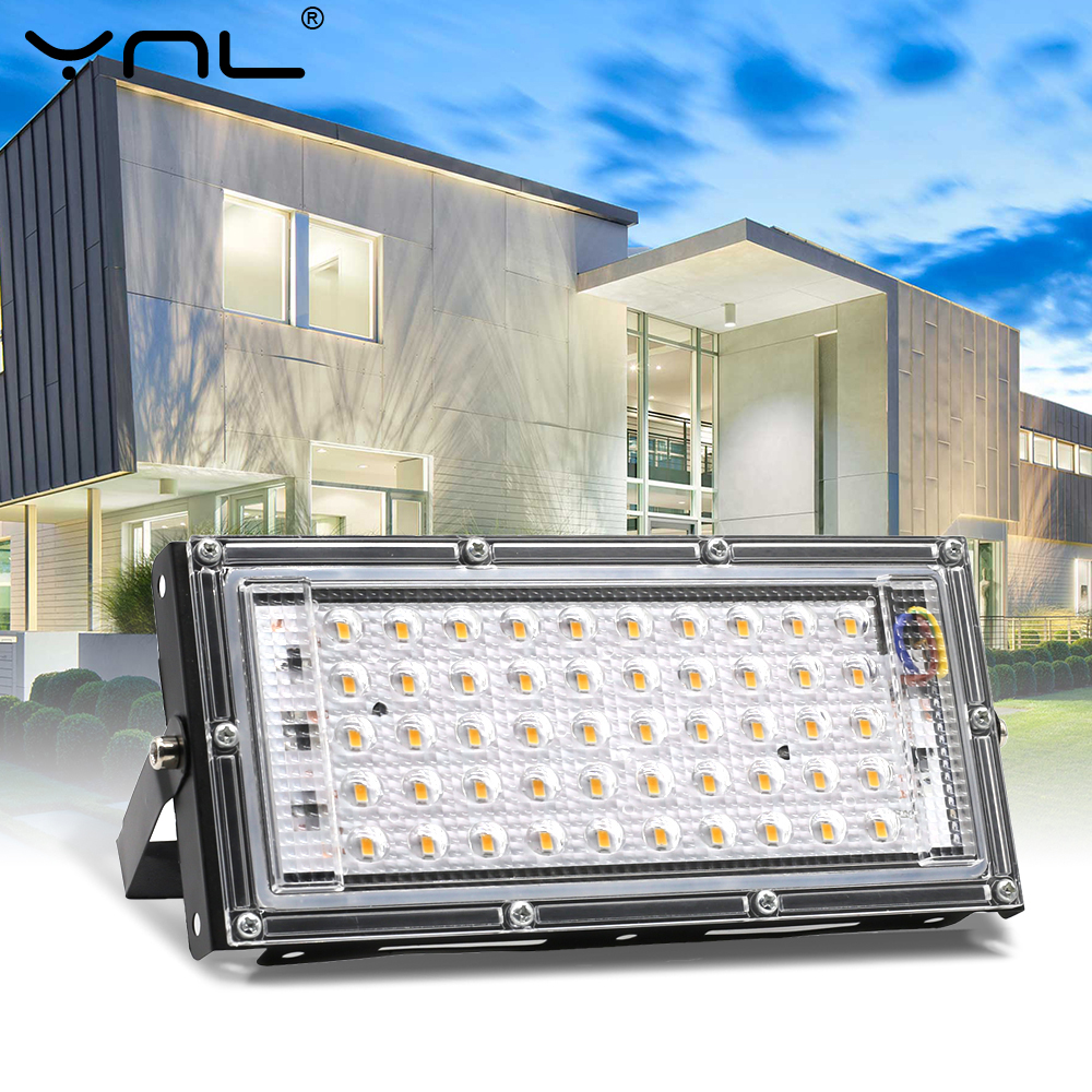 50W LED Flood Light 220V 230V 240V Floodlight Waterproof IP65 Outdoor Street Spotlight Wall Reflector Garden Lighting