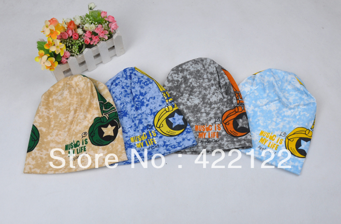 Winter Keep Warm Knitted Hats For Boy/girl/kits Hats,infants Caps Beanines Chilldren Headphones Camouflage Turtleneck ZA08 5pcs