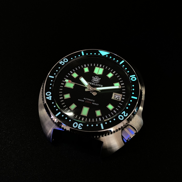 Tuna 6105 Diver Watch 200M Waterproof Automatic Watch Men Sapphire Crystal Stainless Steel NH35 Automatic Mechanical Watch Men