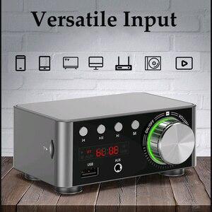 Image 4 - Novo bt5.0 amplificador digital classe d potência amplificador casa 100w estéreo de alta fidelidade som amplificador áudio suport aux tf mp3 player