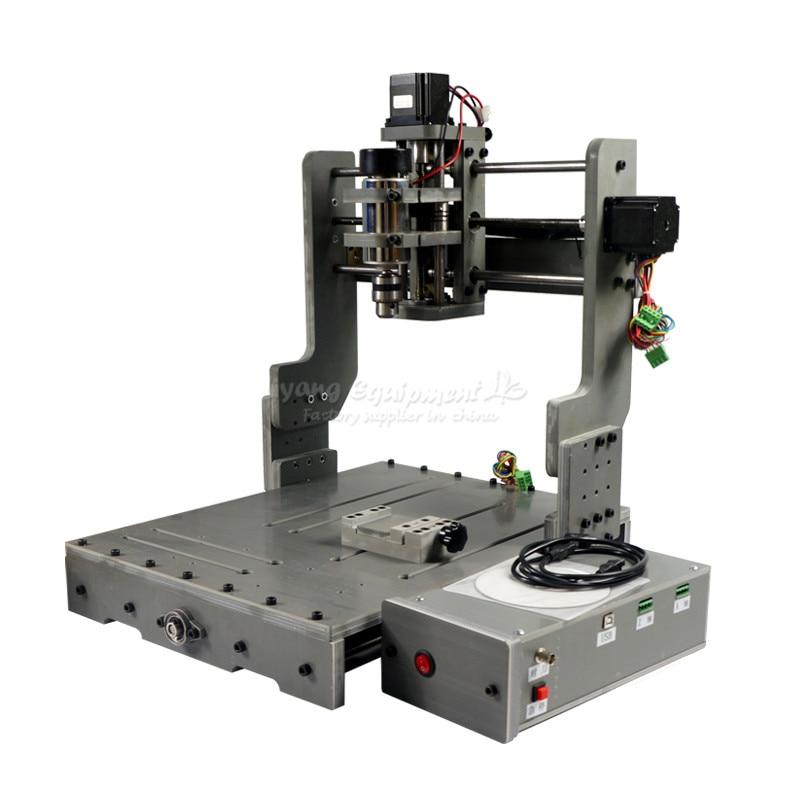 DIY 4030 Cnc Router Mini 3040 Cutting Engraving Machine Pcb Pvc Mill 3axis 4axis USB