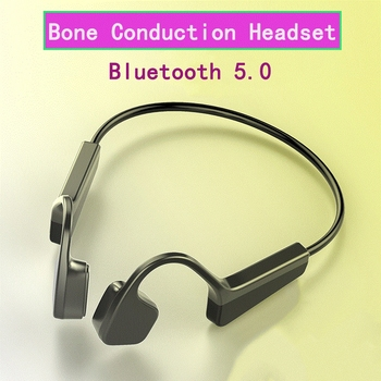New V11 Bluetooth 5.0 Wireless Headphone Bone Conduction Earphone Outdoor Sport Headset Stereo Bone Sensing Headphone For Xiaomi bluetooth bone conduction earphone headset sports headphone wireless outdoor stereo with microphone for iphone samsung android page 6