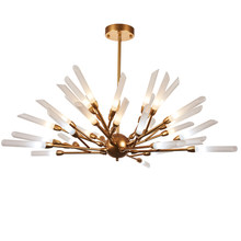 New Luxury Creative Chandelier Extremely Simple Gold Black Branch Design Modern Living Room, Bedroom, Commercial Bar Chandelier