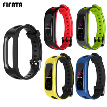 FIFATA For Huawei Honor 4 Running Sport TPU Bracelet Strap Silicone Replacement Band Strap For Huawei Band 3E/4E Smart Wristband rondaful watch band silicone wrist strap for huawei 3e 4e smart watchband for huawei honor band 4 running version bracelet strap