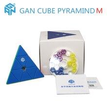 GAN CUBE Pyramide 3x3x3 Magnetischen zauberwürfel GAN Pyramide M 3x3x3 Geschwindigkeit cube 3*3*3 Puzzle cubo magico Magnet Game cube SPIELZEUG