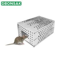 Бытовая большая автоматическая многоразовая ловушка для мыши, ловушка для крыс, грызунов, клетка
