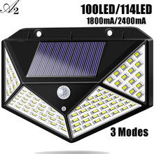 A2 solar lamp100/114 LED light 2400mA Garden lamp outdoor Patio Outside Back Yard Wall Driveway Fence