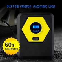 Portable 150PSI Car Tire Inflator Digital Display Air Compressor Pump Car Motorcycle Pump power 12v 150psi 2 cylinder car air compressor tire inflator pump universal for car trucks bicycle portable emergency heavy duty