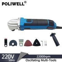 POLIWELL 300W 220V 6 Geschwindigkeit Elektrische Oszillierende Multi-Werkzeug Holz Metall Schneiden Elektrische Trimmer Startseite DIY Oszillierende power Tools