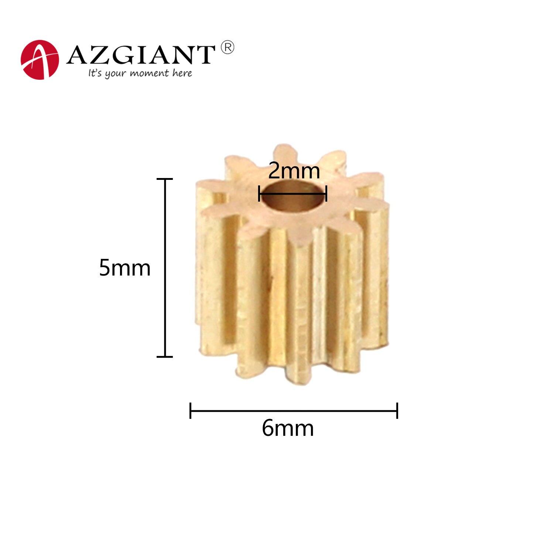 Модуль 0,5 10 зубьев (6*5 мм) шестерня для 140 130 260 латунный металлический мотор редуктор M0.5 медная Шестерня внутренний диаметр 2 мм железо