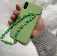 Bunte Lächeln Perlen Kette Lanyard Gurt Schnur Handy Hängen Armband Seil Anti-verloren Kette Frauen Handy Zubehör