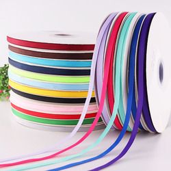 5Yards/Roll Best quality ribbon for crafts wedding Decorations DIY Grosgrain Ribbons Bow Gifts Card Wrapping Supplies 6mm