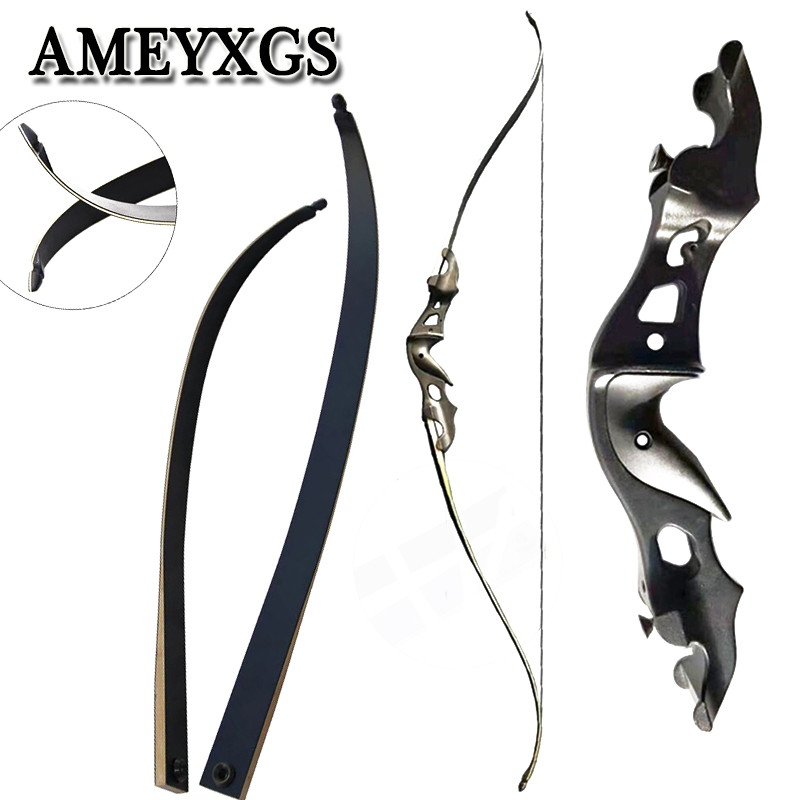 1Set Archery 20-55 Lbs 58 Inches Hunting Bow Recurve Bow Aluminum Longbow Hunting Shooting Game Sports Bow And Arrow Accessories image
