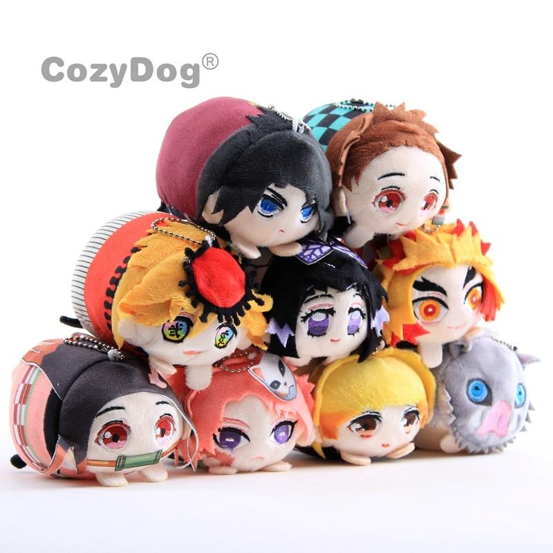 10cm Anime Demon Slayer Plush Toys Doll Cartoon Kimetsu No Yaiba Agatsuma Zenitsu Nezuko Hashibira Figure Toys Peluche Kids Gift