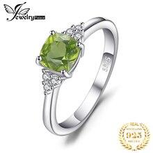 Jewelrypalace genuine peridot anel 925 anéis de prata esterlina para as mulheres anel de noivado prata 925 pedras preciosas jóias finas