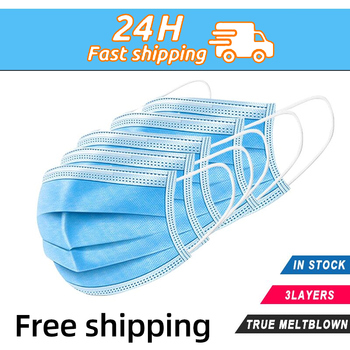 10/50/100/200pcs disposable mask 3-layer non-woven melt blown dustproof protective mask outdoor sports breathable mask