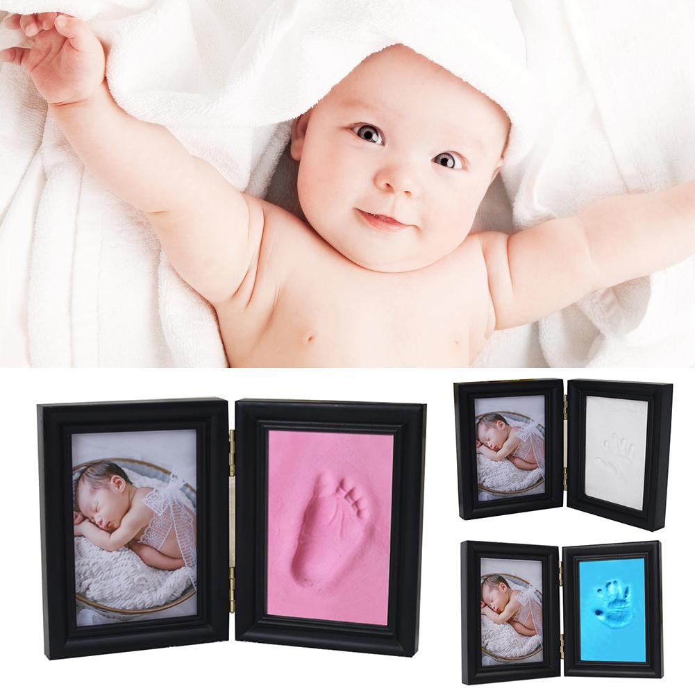 Baby Footprint Ultra Light Stereo Baby Care Air Drying Soft Clay Baby Hand Foot Imprint Kit Casting DIY Toys With Frame