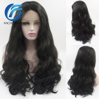 FACHOUFEE Body Wave Lace Front Wigs for Women Black Color Synethetic Hair Glueless Lace Wigs with Natural Hairline