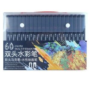 Image 3 - 48/60/72/100 sztuk wysokiej jakości podwójny rysunek manga pióro artystyczne dla Bullet Journal kolorowanki dla dorosłych kaligrafii napis