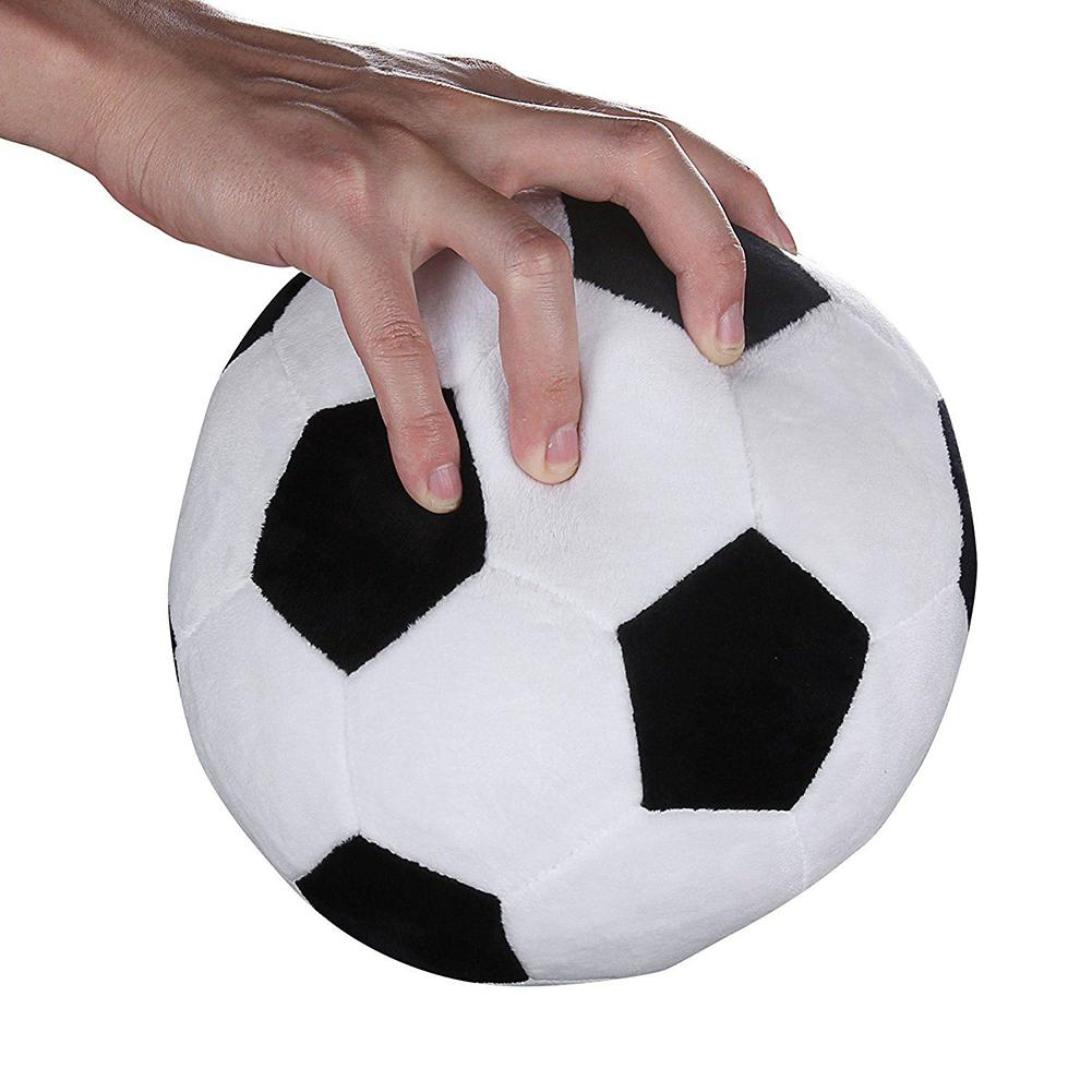 17cm Realistic Soccer Football Plush Stuffed Soft Ball Kids Toy Home Simulation Football Decoration Soft Pillow Back Cushion
