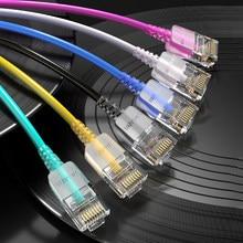 SAMZHE – câble Ethernet Cat 6 A 10Gbps, cordon fin de réseau LAN pour routeur RJ45, boîte de télévision