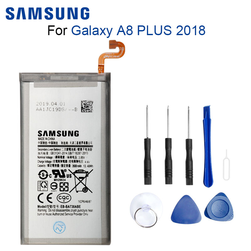 SAMSUNG Phone-Battery Replacement A730f-Batteries--Tools EB-BA730ABE Original for Galaxy
