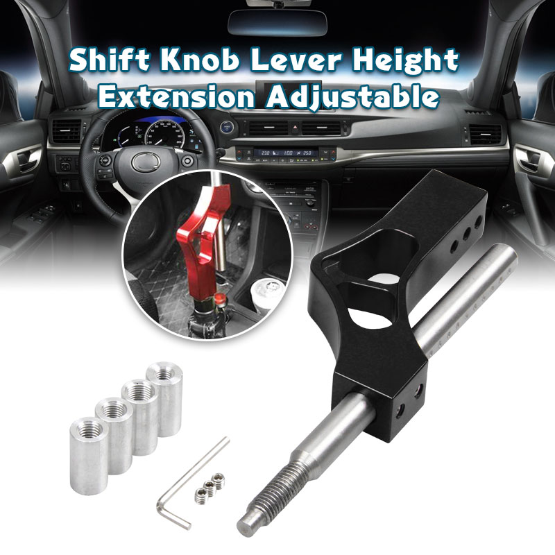 Aluminum Car Gear Short Shifter Extender Shifter knob Fit For most unviersal car SK089 image