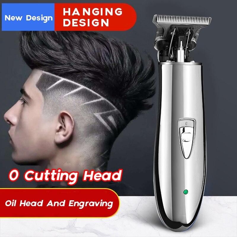 Профессиональный электрический беспроводной триммер для волос для мужчин 0 мм с заплечной головкой машинка для стрижки волос